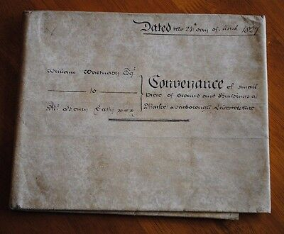 Beautiful Old English House Deeds Dated 1827 *unresearched*