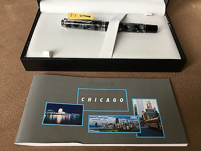 Flawless Pelikan M620 Special Edition FP, City Series, Chicago, 18C Fine Nib