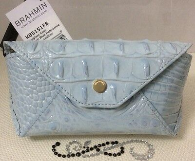 Brahmin Eyeglass Case French Blue Melbourne Genuine Leather