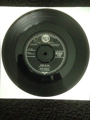 "Elvis Presley - Stuck On You / Fame And Fortune 7"" Vinyl 45-RCA 1187 (1960)"