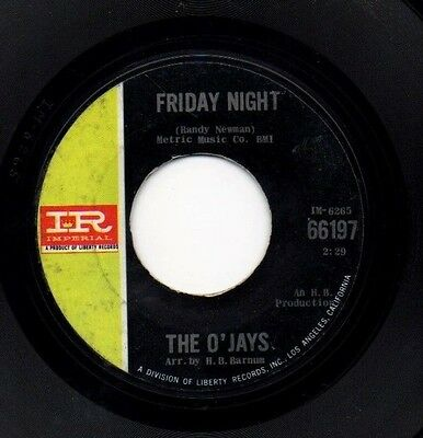"THE O'JAYS 7"" ORIGINAL US.IMPERIAL 60's NORTHERN SOUL 45 FREE UK P&P"