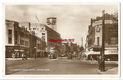 Leicester Humberstone Gate Real Photo Vintage Postcard 8.6