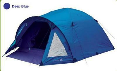 4 Person Blue Double layer Waterproof Family Camping Hiking Instant Tent