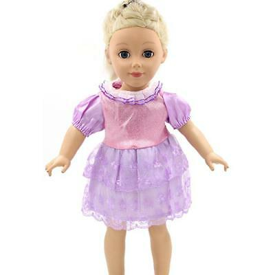 Purple Dress Clothes Adorable for 18 Inch AG American Girl Journey Dolls