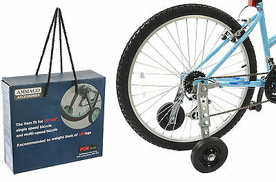 "Adult Edition Bike Trainer Stabiliser Set 20""-26"" Wheel Size Training Wheels"