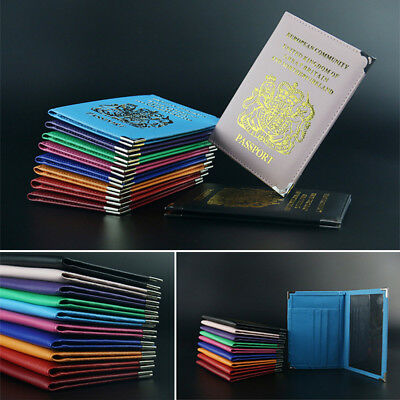 1PC Travel Wallet For UK and European PU Leather Passport Passport Protector