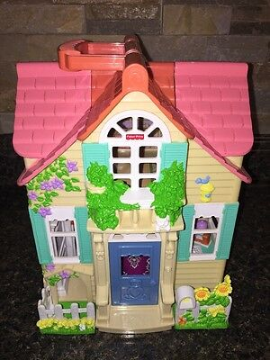 Fisher Price 2000 Sweet Streets Country House/Home Dollhouse Building Only