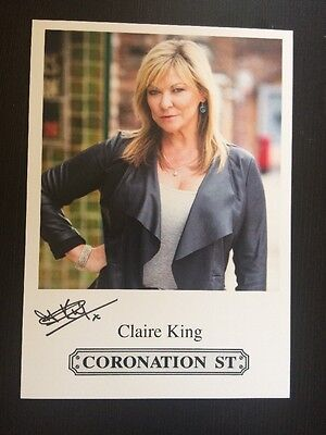 """Claire King Coronation Street Pre-Printed Signature Cast Card 6"""" X 4""""."""