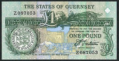 £1 * States of Guernsey * Trestain * Z Prefix  * REPLACEMENT NOTE * UNC