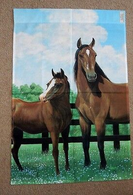 "PRETTY BAY HORSES LARGE TOLAND GARDEN FLAG 24"" x 35"" ARABIAN THOROUGHBRED"