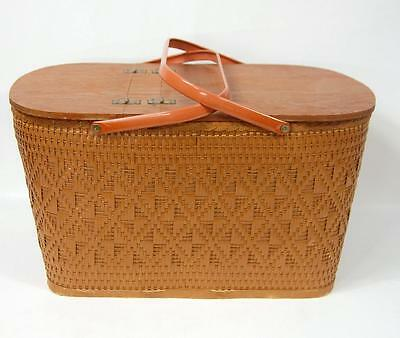 OLD Mid Century-Vintage Redman Picnic Basket WITH SELF TRAY