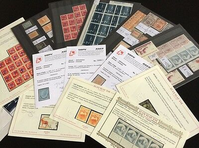 VENTE PRINTEMPS 2#LOT226: GIGA collection timbres Italie certificats Raybaudi