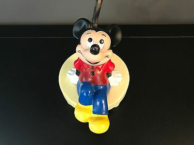 Vintage Walt Disney Mickey Mouse Nursery Lamp Night Light 1981 Dolly Toy Co