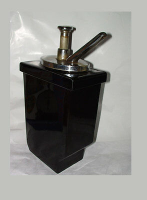 Antique Hall Pottery Soda Fountain Syrup Dispenser Pump WORKS - NO CHIPS
