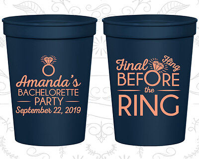 Bachelorette Party Favor Cups Favors (60074) Final Fling Before The Ring, Bling