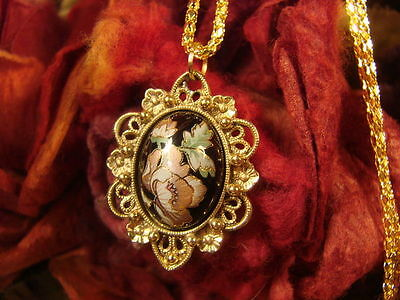 ~Beautiful Vintage Flower Fairy Amulet & Spell Scroll~Fairy Magick~Metaphysical