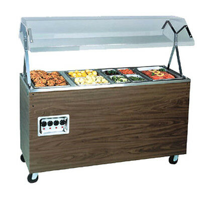 """Vollrath 38767464 46"""" Affordable Portable Solid Base Hot Food Station (Cherry)"""