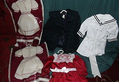 AG retired - SAMANTHA - Middy/Sailor, Cranberry lace dress and Winter cape  coat