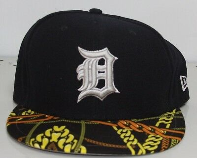 detailed look 6136d d36cf ... discount code for new era detroit tigers mlb real chains 59fifty 5950 fitted  cap navy 7