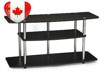 Convenience Concepts Designs2Go Wide 3 Tier TV Stand, Black