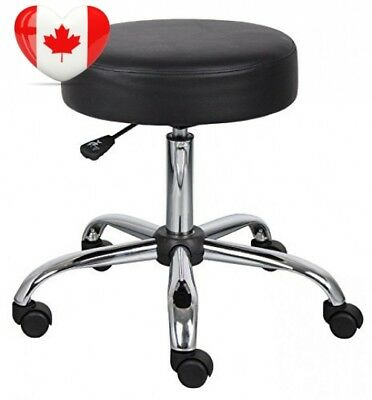 Nicer Furniture ® Caressoft Medical Drafting Stool Black, adjustable height