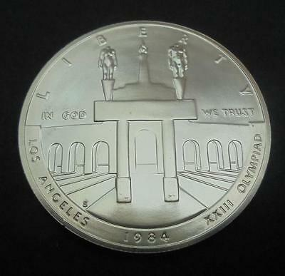 USA 1984 - S Silver $1 One Dollar Olympic Games Los Angeles BU Coin in Capsule