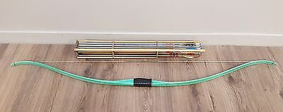 """Ben Pearson vintage fibreglass bow in light green no. 3350 60"""" 30# adult size"""
