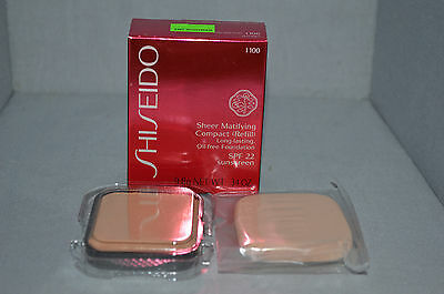 Shiseido Sheer Matifying Compact Refill I 100 SPF 22 .34oz New Boxed