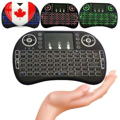 DeepSea Backlit Mini Wireless Keyboard with Touchpad and Multimedia Keys for...