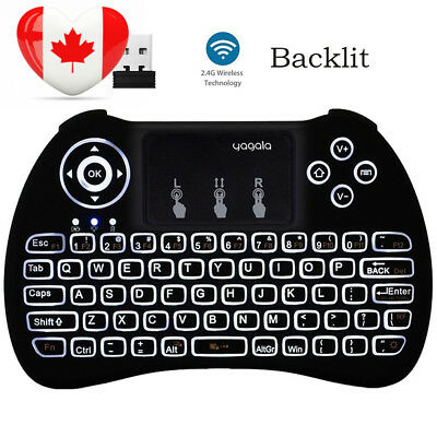 YAGALA H9 Backlit Mini Wireless Keyboard with Touchpad Mouse, 2.4GHz...