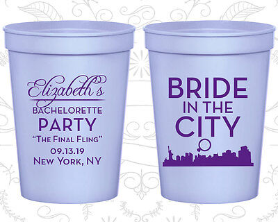 Bachelorette Party Cups Cup Favor (60162) Bride In The City, The Final Fling