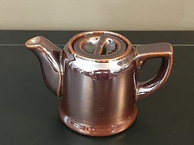 1920 -1940's dark brown individual tea / coffee pot restaurant ware no markings