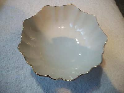 LENOX USA Lovely Candy Dish Bowl Ivory 24K Trimmed Scallop Design Free Ship