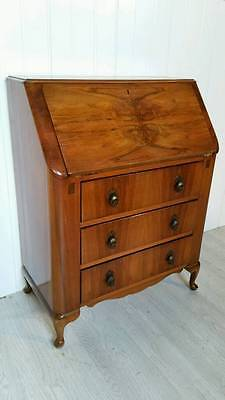 Vintage Walnut Art Deco Writing Bureau