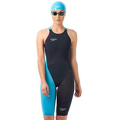 Speedo Fastskin Lzr Racer Elite 2 Openback Open Back Kneeskin Swimsuit Size 26