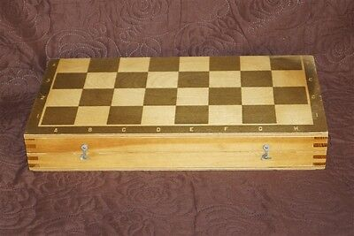 Vintage Soviet Russia Big Wooden Wood Chess Board Box without Pieces USSR