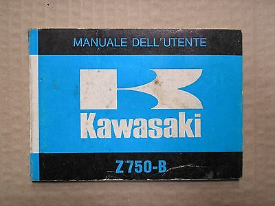 Kawasaki 750 Z750B twin owners manual manuale dell utente 99983-044-01 USED