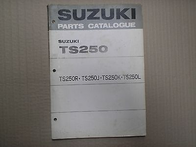 Suzuki TS 250 TS250 RJKL genuin parts catalogue A4 size 99000-91473 lightly USED