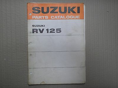 Suzuki RV 125 RV125 K L genuine parts catalogue A4 size 99000-91731 USED