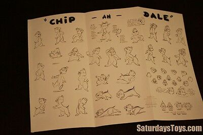 1948 / 2005 Walt Disney Studio CHIP an DALE Model Sheet 128-8056 Animation