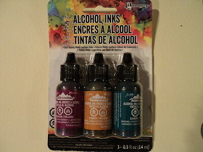 TIM HOLTZ Adirondack Alcohol Ink 3 Pk 'NATURE WALK' BNIP **LOOK**