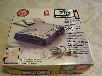 Iomega Zip Drive 100MB External Drive for Windows PC Parallel Port Complete