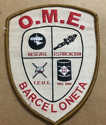 Puerto Rico Police Patch...office Of Emergency Management  Barceloneta (Ome)
