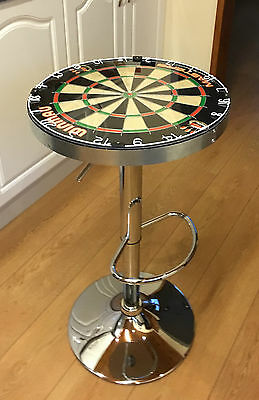 *winmau*vintage*dart Board Adjustable Table/stool*one Of A Kind*unique*pdc*bdo*