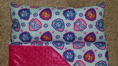 SKYE PAW PATROL Kindermat / Nap Mat Covers (Roll-up) attached pillow and blanket