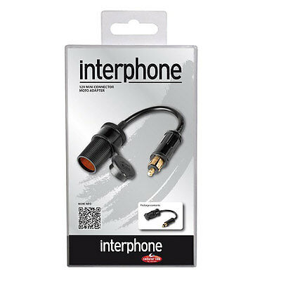 Interphone 12V Mini Connector Cigarette Lighter Socket Motorcycle Motorbike