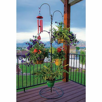 Flower Decor Garden Plant Stand Hanging Holder Baskets Patio Outdoor Planter