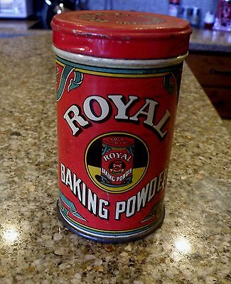 Antique Vintage Advertising Tin Royal Baking Powder c1938 Six ounce size
