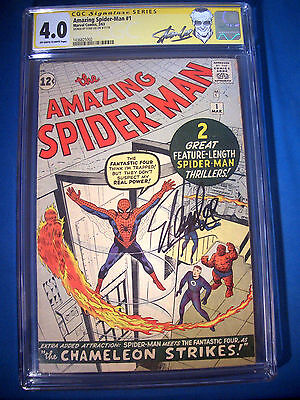 STAN LEE Signed 1963 * Amazing SPIDER-MAN #1 SS Marvel Comics CGC Graded 4.0 VG