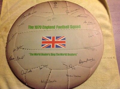 """The 1970 England Football Squad Lp - """"the World Beaters Sing The World Beaters"""""""
